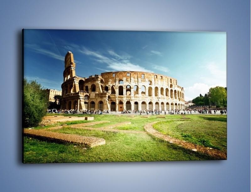 Obraz na płótnie – Koloseum w piękny dzień – jednoczęściowy prostokątny poziomy AM273