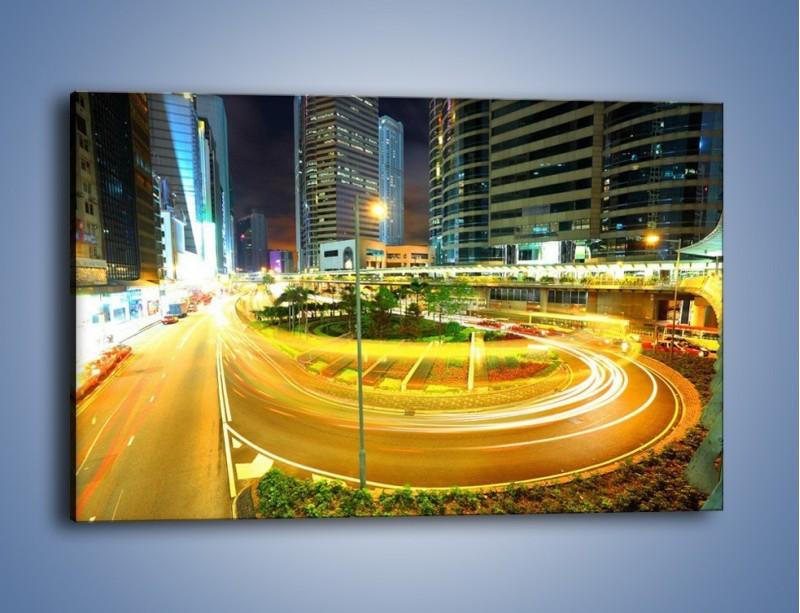 Obraz na płótnie – Światła samochodów w ruchu – jednoczęściowy prostokątny poziomy AM280