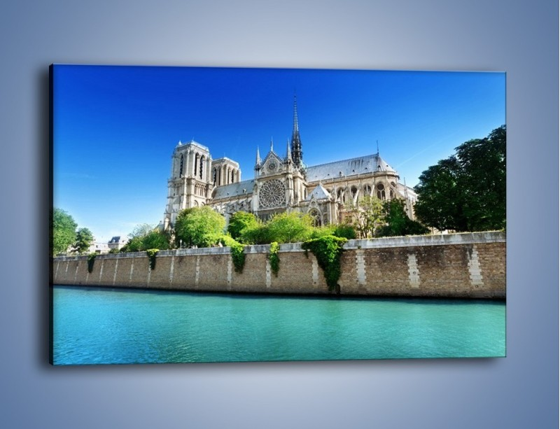 Obraz na płótnie – Katedra Notre-Dame – jednoczęściowy prostokątny poziomy AM305