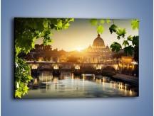 Obraz na płótnie – Bazylika w Rzymie o zachodzie słońca – jednoczęściowy prostokątny poziomy AM306
