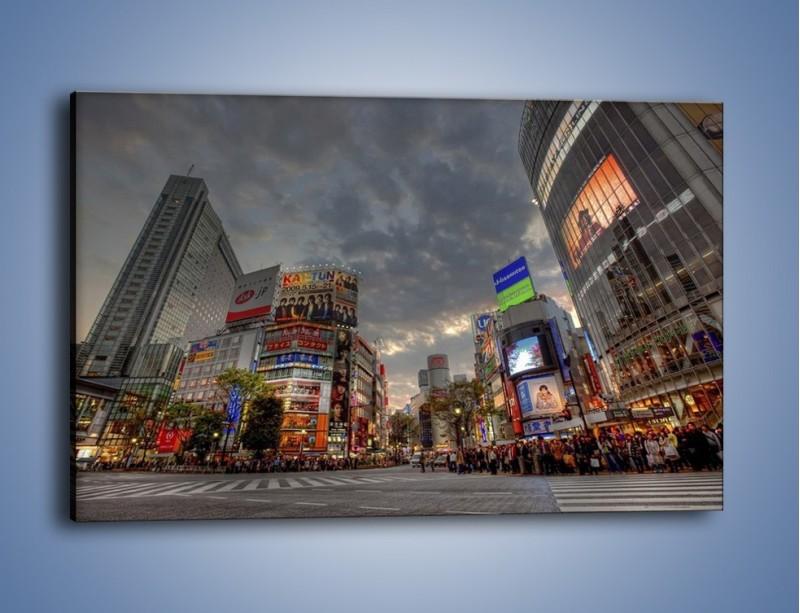 Obraz na płótnie – Uliczny tłok w Tokyo – jednoczęściowy prostokątny poziomy AM312