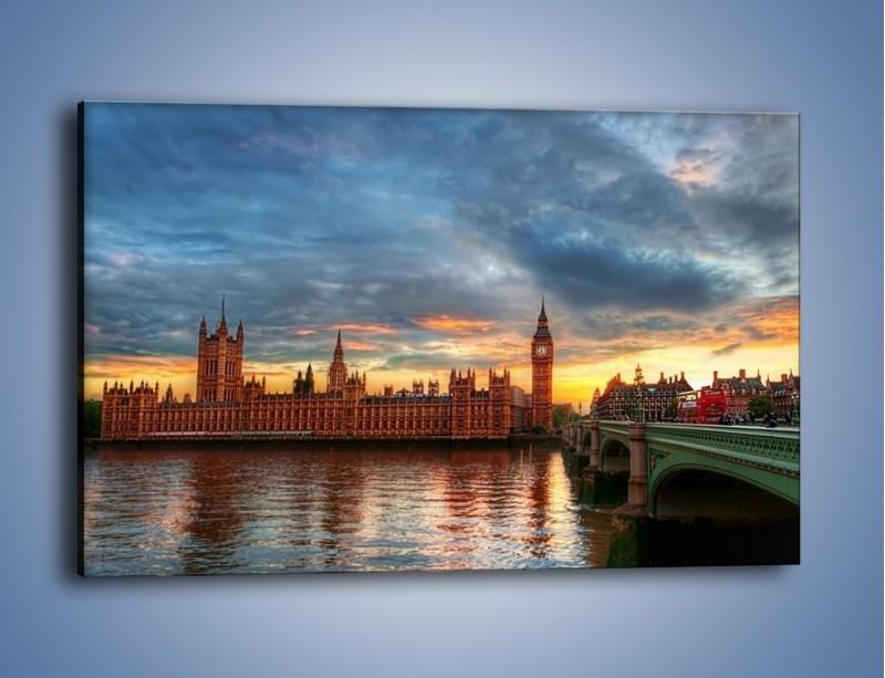 Obraz na płótnie – Pałac Westmnisterski i Big Ben – jednoczęściowy prostokątny poziomy AM321