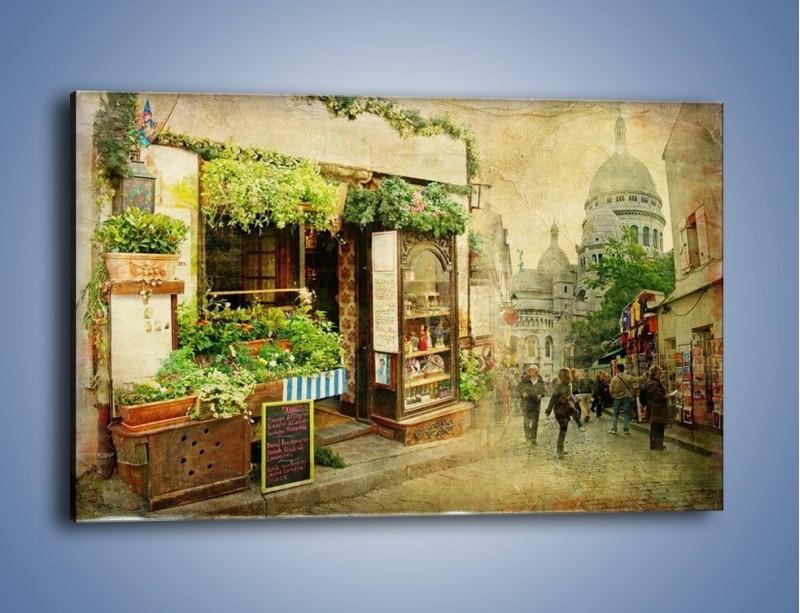 Obraz na płótnie – Paryska dzielnica Montmarte – jednoczęściowy prostokątny poziomy AM323