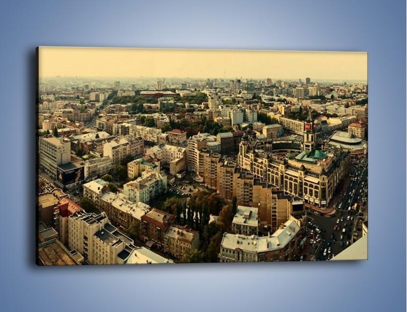 Obraz na płótnie – Panorama Kijowa – jednoczęściowy prostokątny poziomy AM326