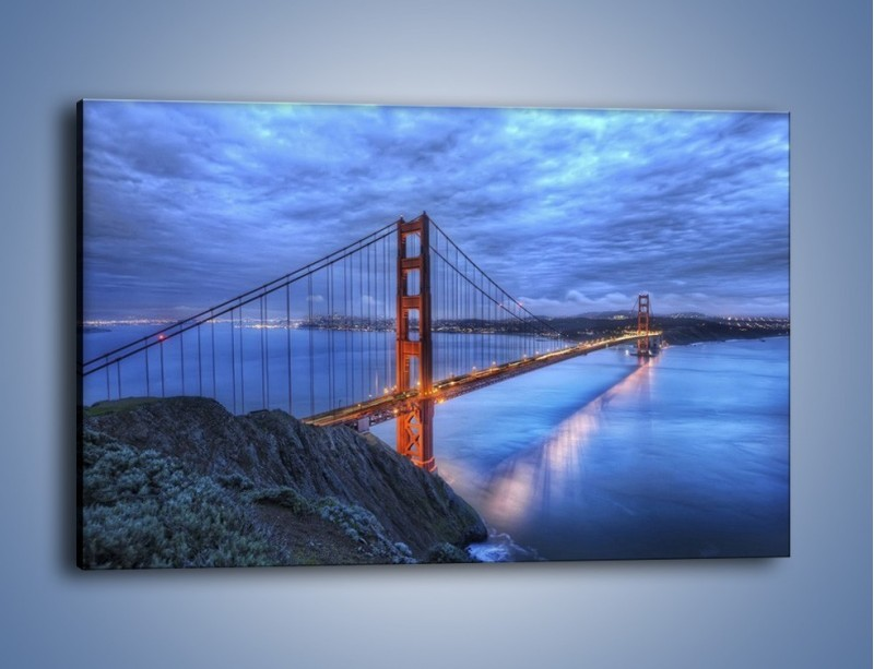 Obraz na płótnie – Most Golden Gate – jednoczęściowy prostokątny poziomy AM328