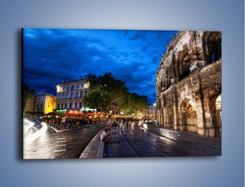 Obraz na płótnie – Nocne życie w Rzymie – jednoczęściowy prostokątny poziomy AM344