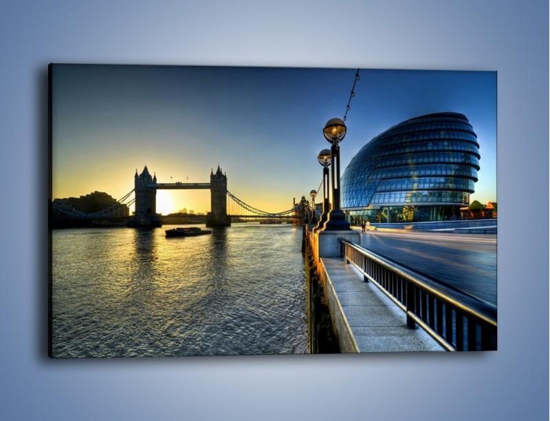 Obraz na płótnie – Londyński Tower Bridge – jednoczęściowy prostokątny poziomy AM348