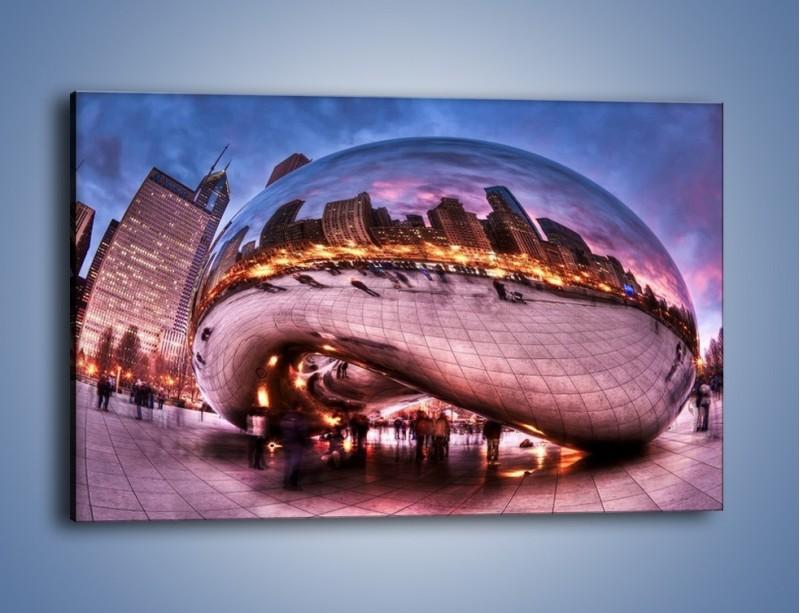 Obraz na płótnie – Cloud Gate w Chicago – jednoczęściowy prostokątny poziomy AM352