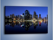Obraz na płótnie – Brisbane w Australii nocą – jednoczęściowy prostokątny poziomy AM354