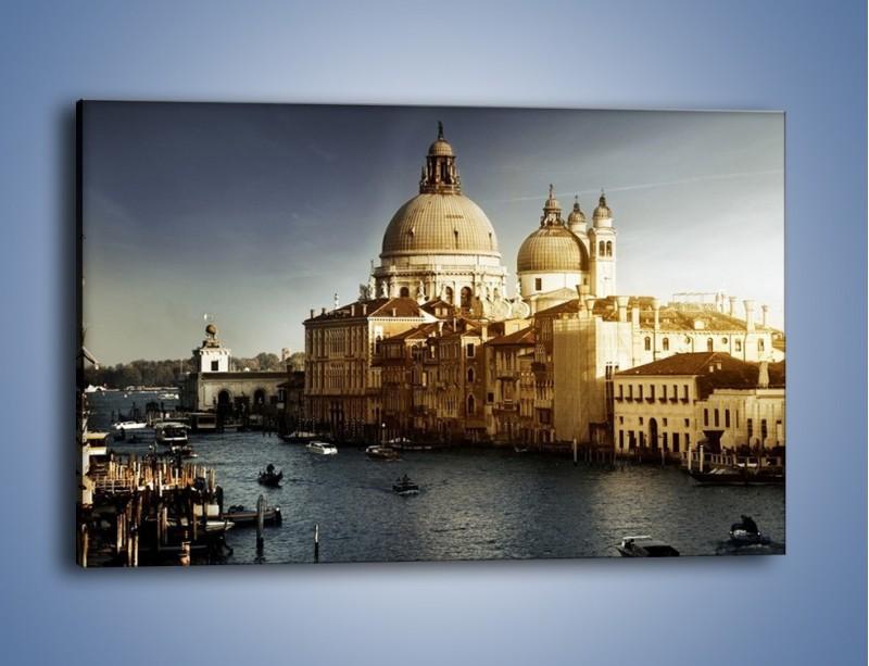 Obraz na płótnie – Zapadający zmrok na Wenecją – jednoczęściowy prostokątny poziomy AM356