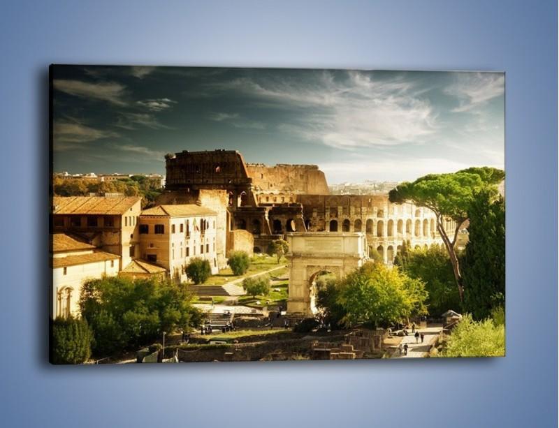 Obraz na płótnie – Ruiny starożytnego Rzymu – jednoczęściowy prostokątny poziomy AM357