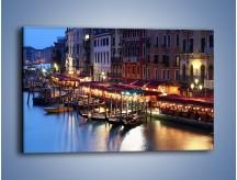 Obraz na płótnie – Wieczorowe życie w Wenecji – jednoczęściowy prostokątny poziomy AM358