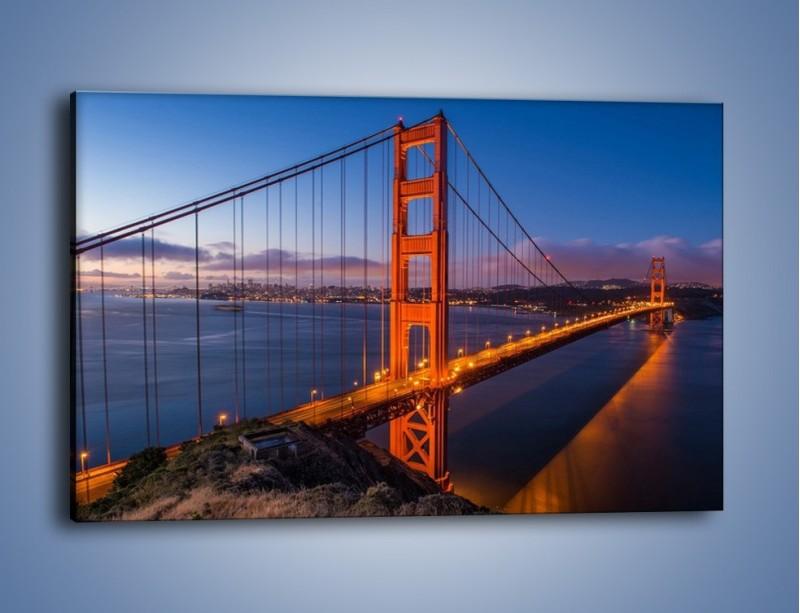 Obraz na płótnie – Rozświetlony most Golden Gate – jednoczęściowy prostokątny poziomy AM360