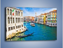 Obraz na płótnie – Kolorowy świat Wenecji – jednoczęściowy prostokątny poziomy AM362