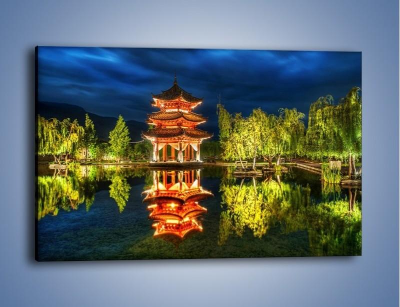 Obraz na płótnie – Urokliwy park w Chinach – jednoczęściowy prostokątny poziomy AM365