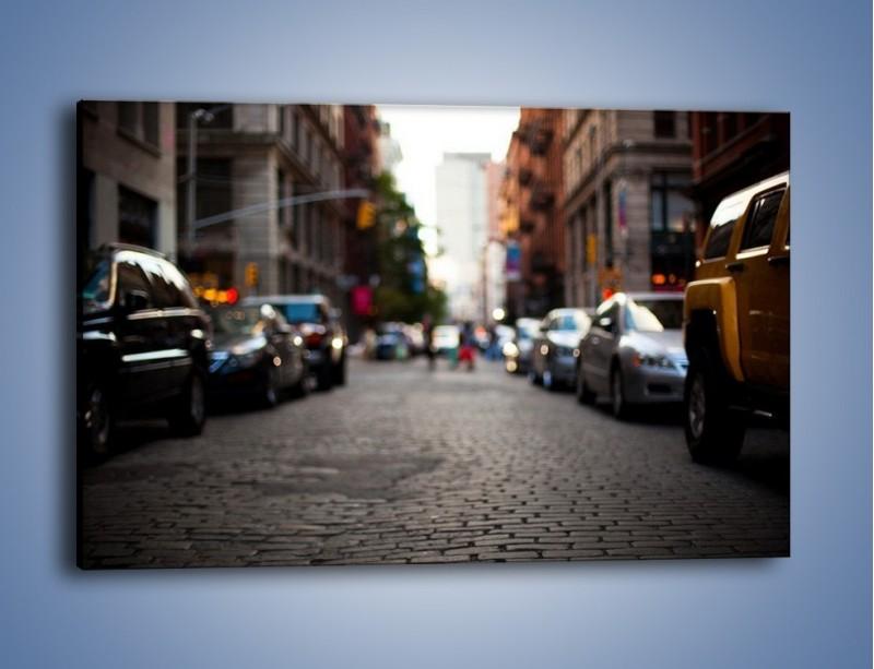 Obraz na płótnie – Rozmyty świat centrum miasta – jednoczęściowy prostokątny poziomy AM367