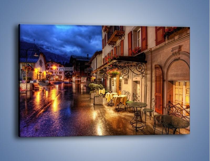 Obraz na płótnie – Romantyczne miasteczko pod Alpami – jednoczęściowy prostokątny poziomy AM368