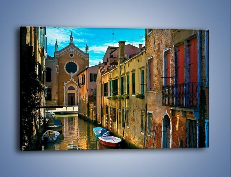 Obraz na płótnie – Cały urok Wenecji w jednym kadrze – jednoczęściowy prostokątny poziomy AM371