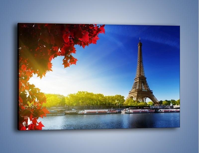 Obraz na płótnie – Wieża Eiffla w piękny dzień – jednoczęściowy prostokątny poziomy AM373