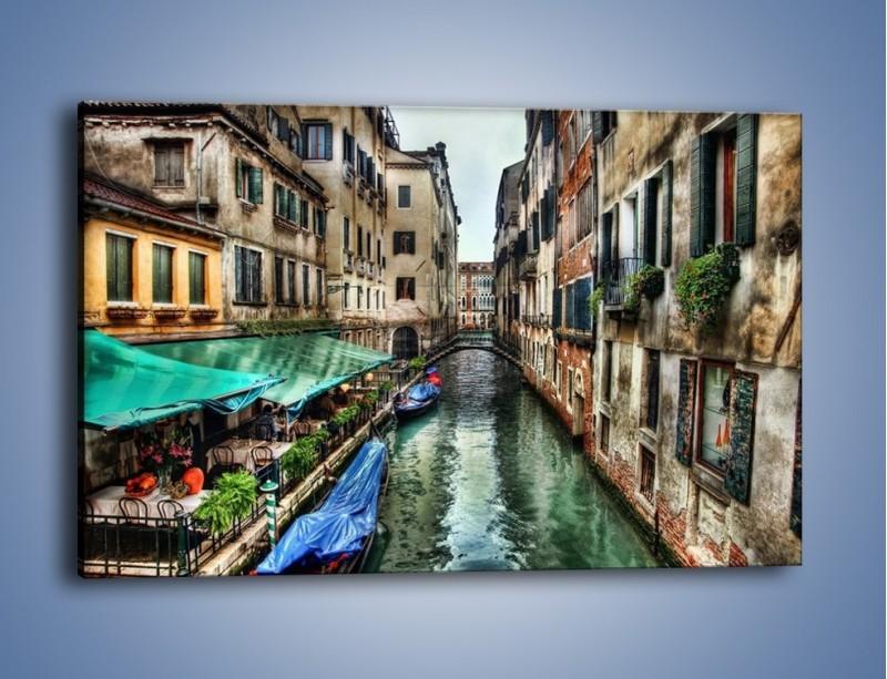 Obraz na płótnie – Wenecka uliczka w kolorach HDR – jednoczęściowy prostokątny poziomy AM374