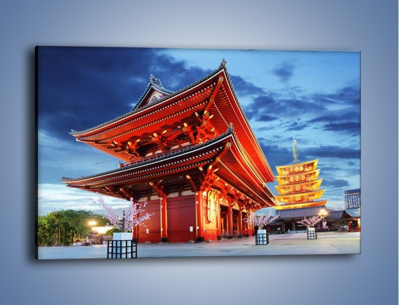 Obraz na płótnie – Świątynia Senso-ji w Tokyo – jednoczęściowy prostokątny poziomy AM378