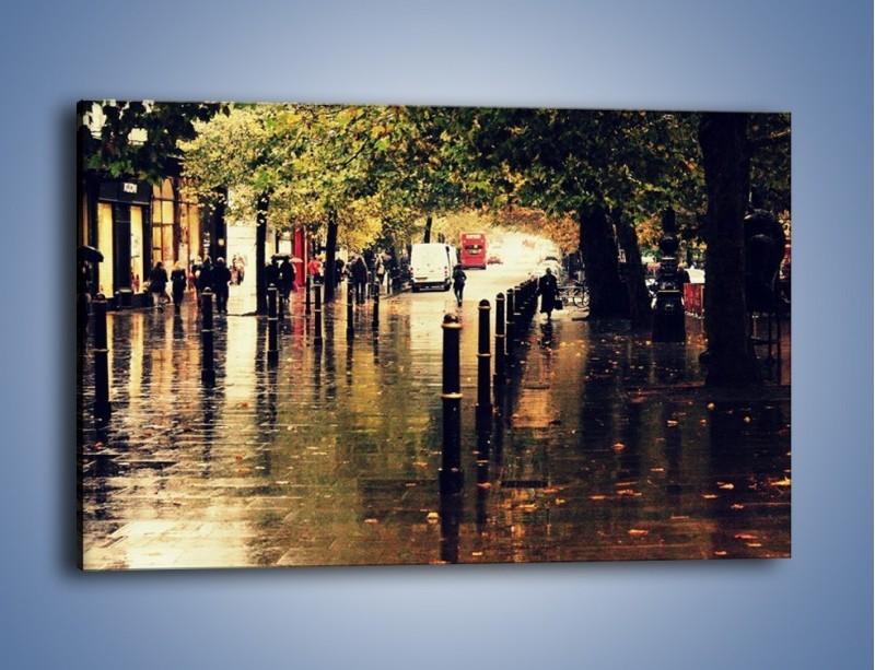Obraz na płótnie – Deszczowa jesień w Moskwie – jednoczęściowy prostokątny poziomy AM383
