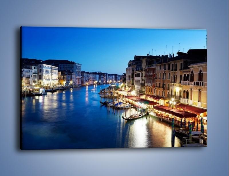 Obraz na płótnie – Zmierzch nad Wenecją – jednoczęściowy prostokątny poziomy AM389