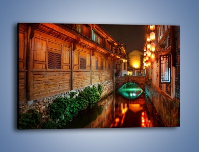 Obraz na płótnie – Kanał w chińskim mieście Lijiang – jednoczęściowy prostokątny poziomy AM391