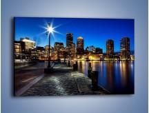 Obraz na płótnie – Boston wieczorową porą – jednoczęściowy prostokątny poziomy AM393