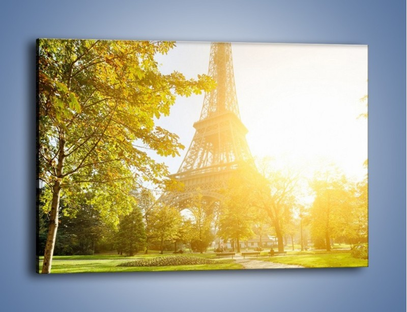 Obraz na płótnie – Wieża Eiffla w świetle słońca – jednoczęściowy prostokątny poziomy AM398