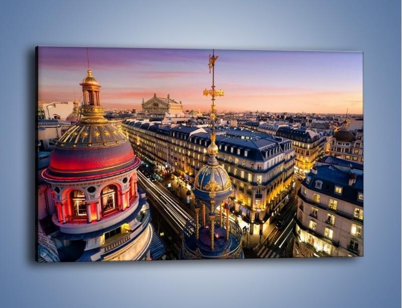 Obraz na płótnie – Paryska architektura – jednoczęściowy prostokątny poziomy AM402