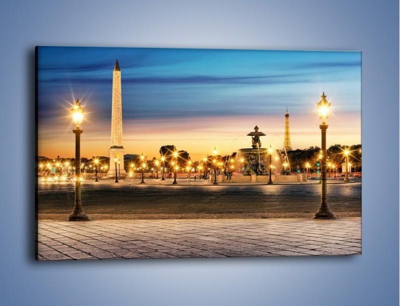 Obraz na płótnie – Place de la Concorde w Paryżu – jednoczęściowy prostokątny poziomy AM404