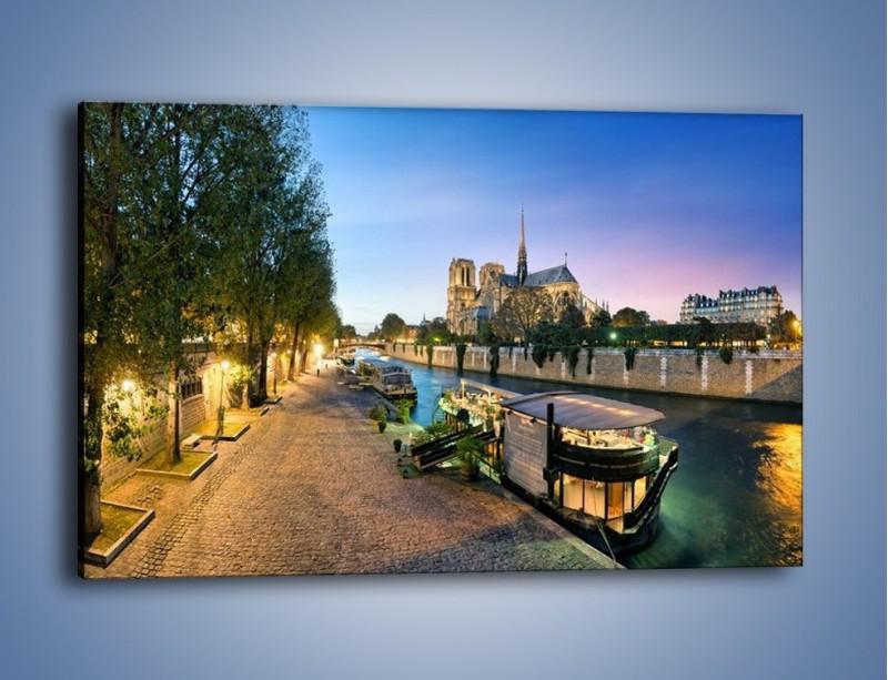 Obraz na płótnie – Katedra Notre Dame – jednoczęściowy prostokątny poziomy AM405