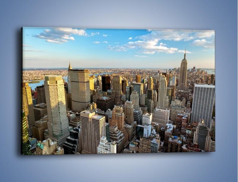 Obraz na płótnie – Manhattan w Nowym Yorku – jednoczęściowy prostokątny poziomy AM412