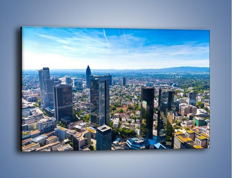 Obraz na płótnie – Panorama Frankfurtu – jednoczęściowy prostokątny poziomy AM414