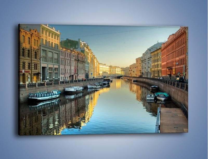 Obraz na płótnie – Kanał wodny w St. Petersburgu – jednoczęściowy prostokątny poziomy AM422