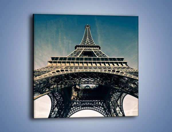 Obraz na płótnie – Wieża Eiffla – jednoczęściowy kwadratowy AM401