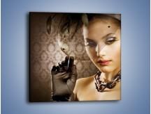 Obraz na płótnie – Czarna dama i woalka – jednoczęściowy kwadratowy L077