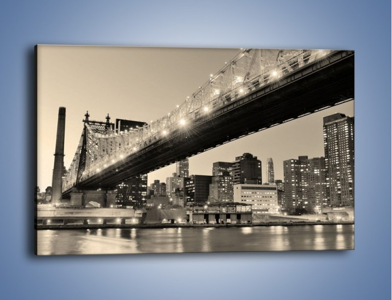 Obraz na płótnie – Most Qeensboro w Nowym Yorku – jednoczęściowy prostokątny poziomy AM438