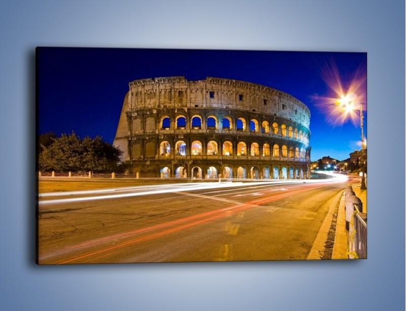Obraz na płótnie – Koloseum po zmierzchu – jednoczęściowy prostokątny poziomy AM443