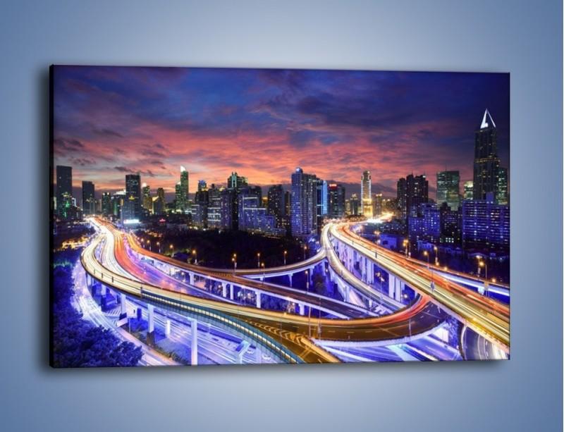 Obraz na płótnie – Skrzyżowania autostrady w Hong Kongu – jednoczęściowy prostokątny poziomy AM447