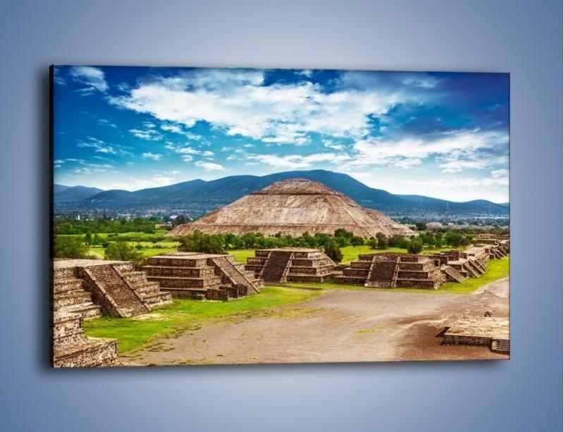 Obraz na płótnie – Piramida Słońca w Meksyku – jednoczęściowy prostokątny poziomy AM450