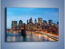 Obraz na płótnie – Manhattan w Nowym Yorku o poranku – jednoczęściowy prostokątny poziomy AM453