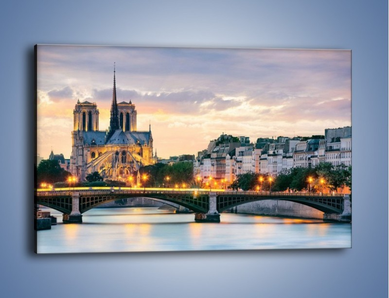 Obraz na płótnie – Katedra Notre Dame – jednoczęściowy prostokątny poziomy AM454