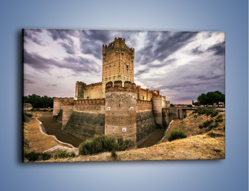 Obraz na płótnie – Zamek La Mota w Hiszpanii – jednoczęściowy prostokątny poziomy AM457