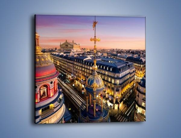 Obraz na płótnie – Paryska architektura – jednoczęściowy kwadratowy AM402