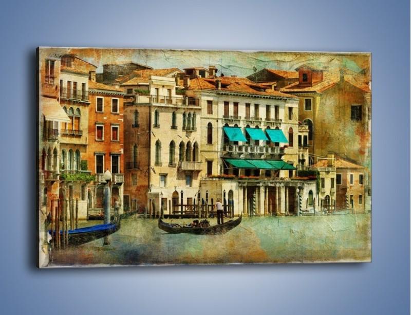 Obraz na płótnie – Weneckie domy w stylu vintage – jednoczęściowy prostokątny poziomy AM459