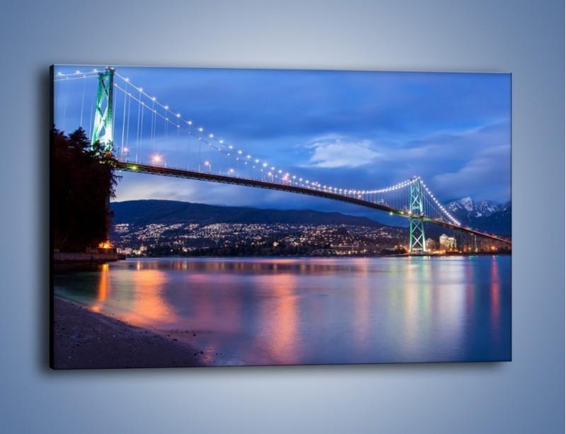 Obraz na płótnie – Most Lions Gate w Vancouver – jednoczęściowy prostokątny poziomy AM471