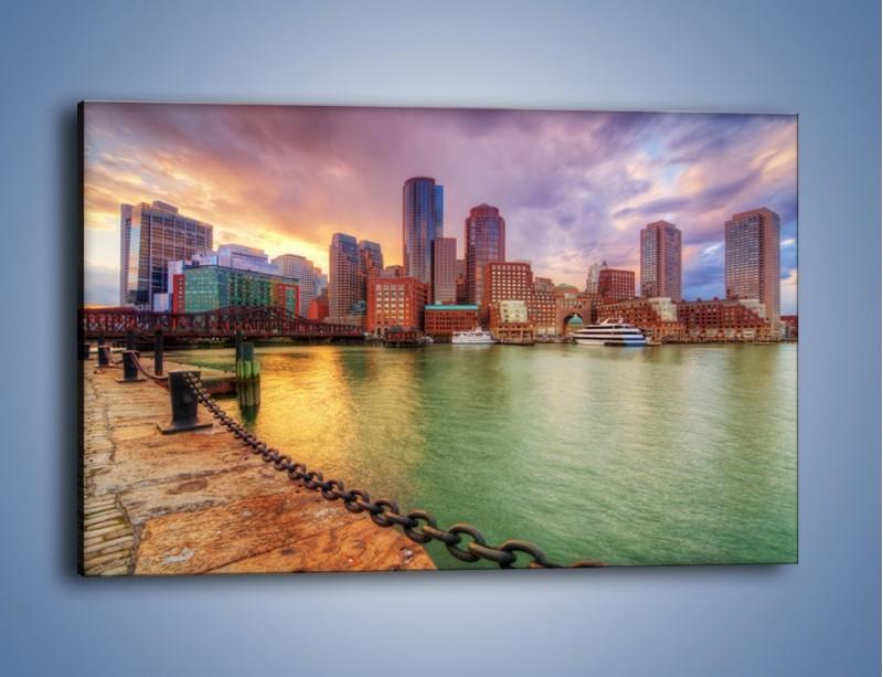 Obraz na płótnie – Widok na centrum Bostonu – jednoczęściowy prostokątny poziomy AM486