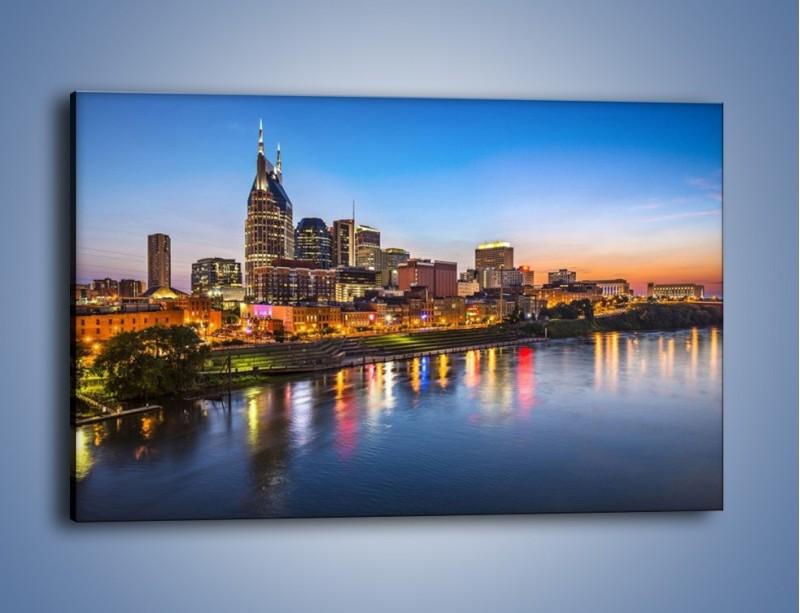 Obraz na płótnie – Nashville nad rzeką Cumberland – jednoczęściowy prostokątny poziomy AM491